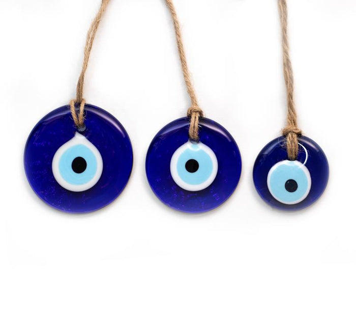 Traditional Blue Glass Evil Eye - Small