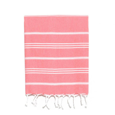 Traditional Turkish Hand Towel - Coral
