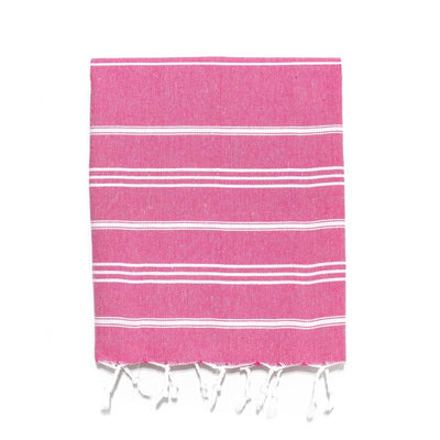 Fuschia Traditional Turkish Hand Towel from The Whirling Girl - Fuchsia