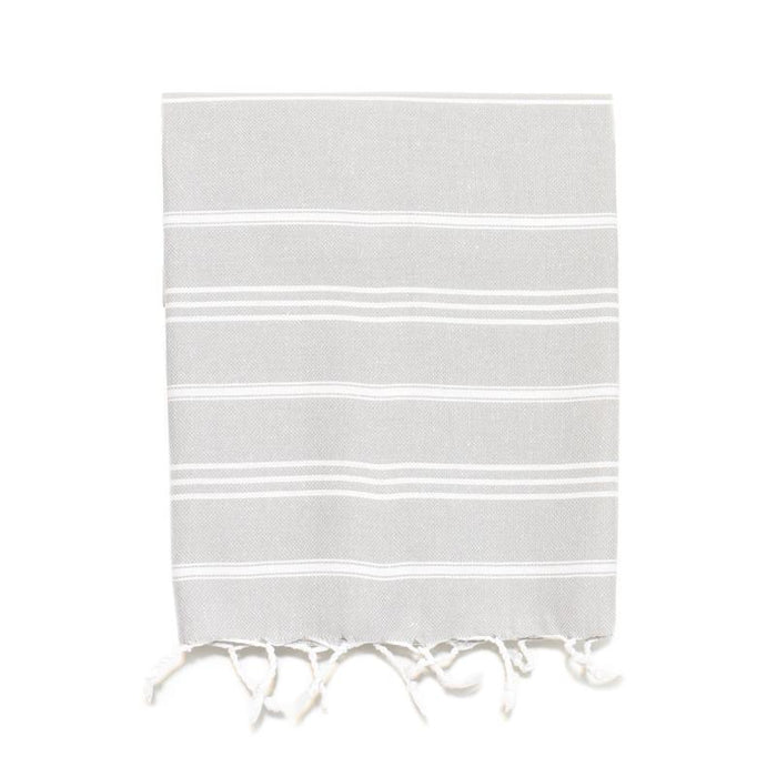 Traditional Turkish Hand Towel - Light Grey