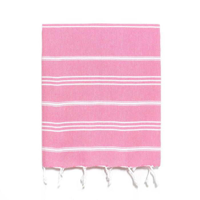 Pink Traditional Turkish Hand Towel from The Whirling Girl