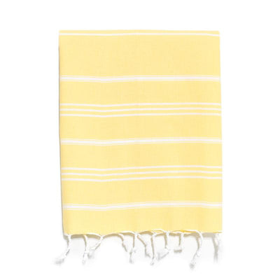 Traditional Turkish Hand Towel - Yellow