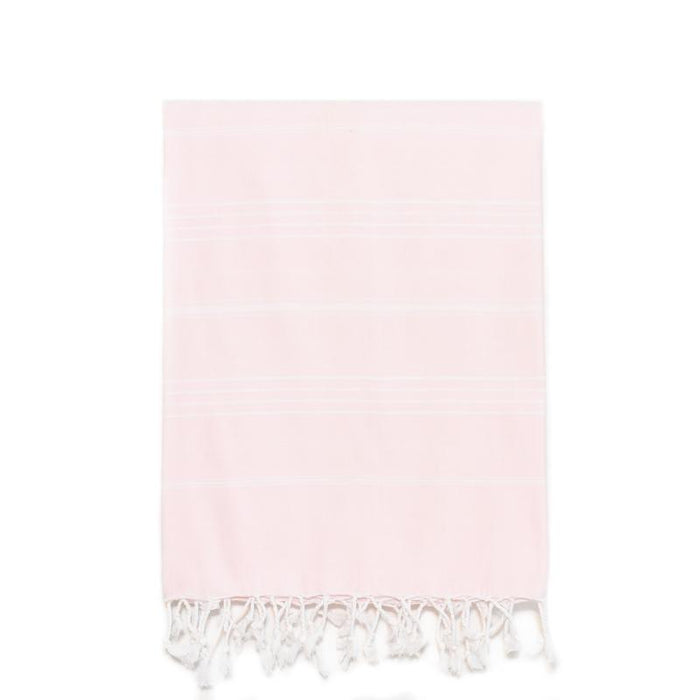 Traditional Turkish Bath Towel - Baby Pink