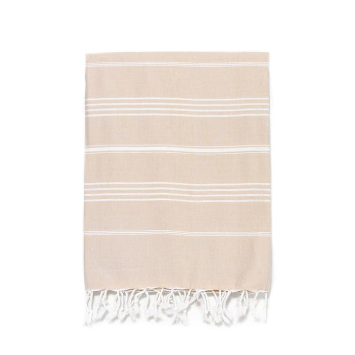 Traditional Turkish Bath Towel -  Cappuccino