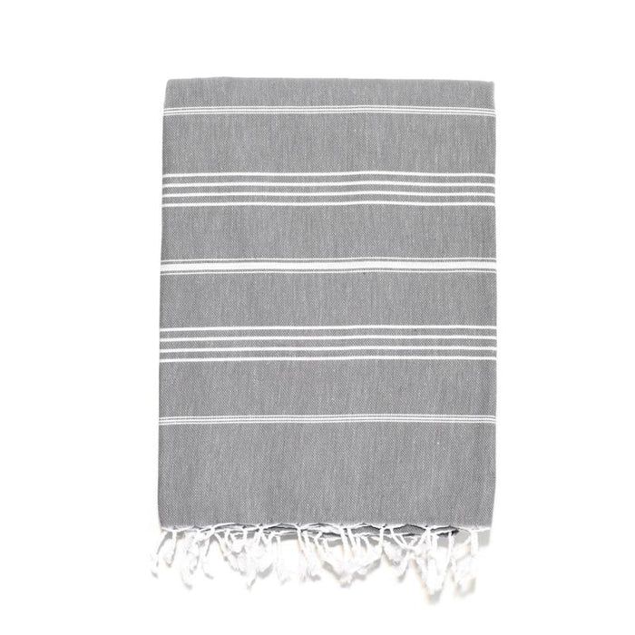 Traditional Turkish Bath Towel - Dark Grey