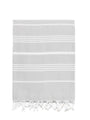 Traditional Turkish Bath Towel - Light Grey
