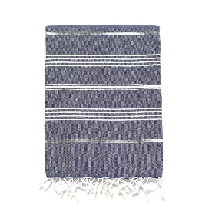 Traditional Turkish Bath Towel - Navy