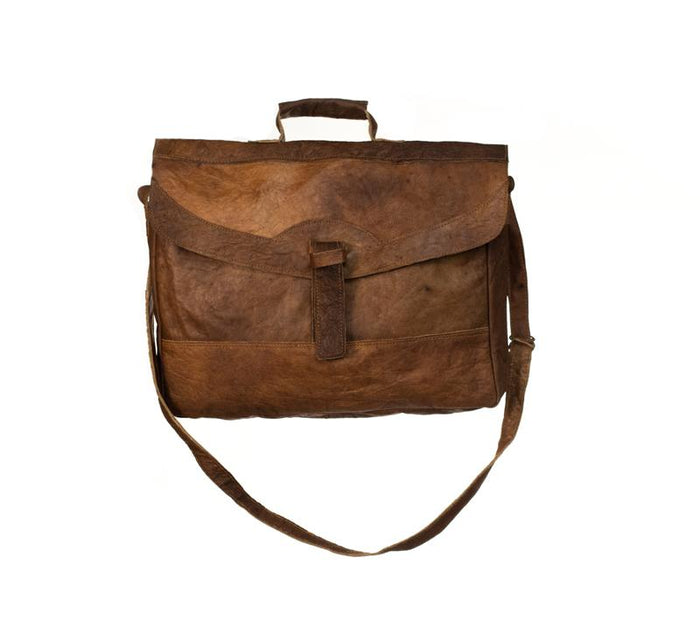Water Buffalo Leather Briefcase Bag