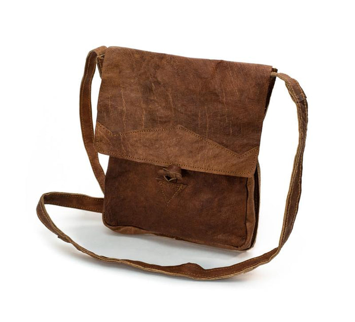 Water Buffalo Leather Simple Bag - Front Plaque