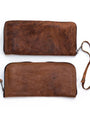 Water Buffalo Leather Wristlet