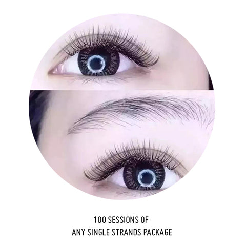 100 Sessions Of Any Single Lash Package