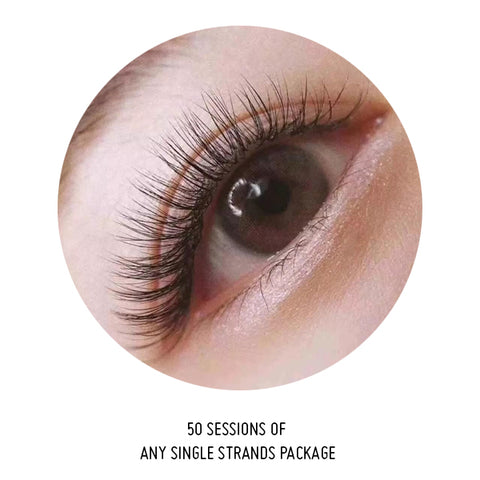 50 Sessions Of Any Single Lash Package