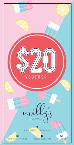 S$20 Milly's Outlet Gift Voucher