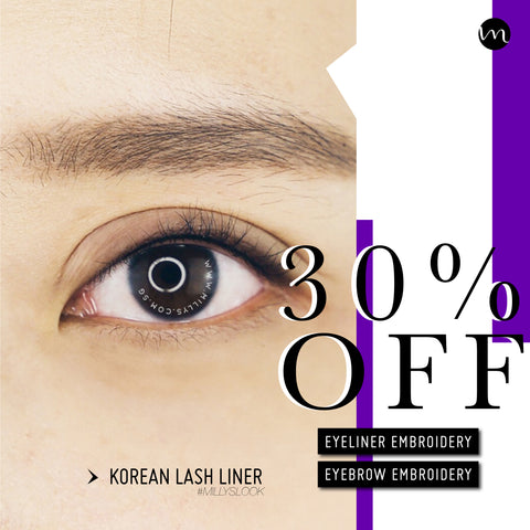 30% OFF EYELINER EMBROIDERY