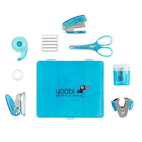 Yoobi Blue Flat Mini Supply Kit