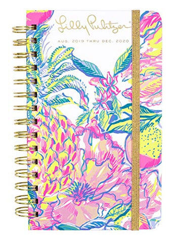"Lilly Pulitzer Medium Aug 2019 - Dec 2020 17 Month Hardcover Agenda, 8.25"" x 5"" Personal Planner with Monthly & Weekly Spreads,"