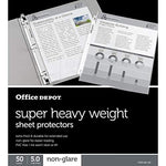 Office Depot Super Heavyweight Non-Glare Sheet Protectors, Pack of 50, OD181116