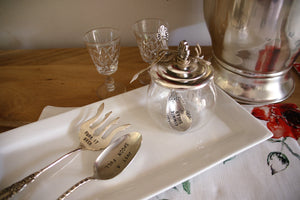 Sugar Bowl and Spoon Set