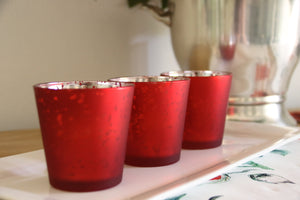 Red Tea Light Candle Holder