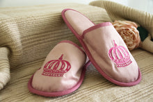 Load image into Gallery viewer, Crown Velvet Slippers