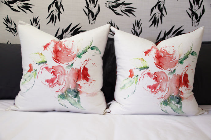Spiral Rose Scatter Cushion