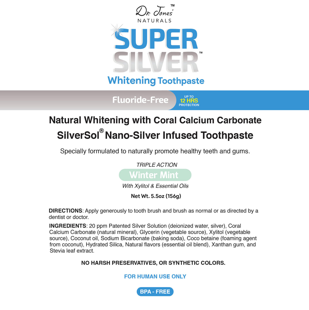 Super Silver Whitening Toothpaste Winter Mint