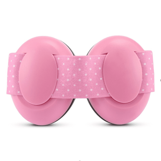 Casque Anti-Bruit Bébé à Sangle Rose