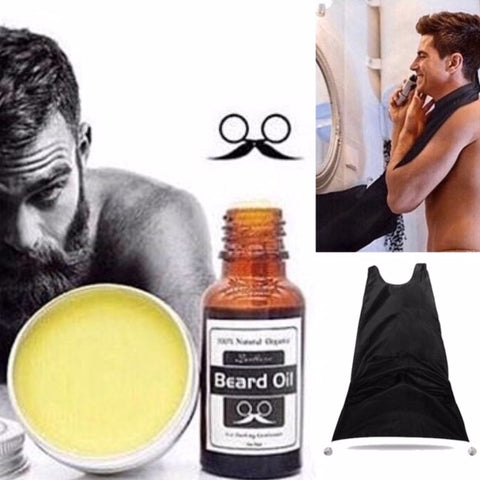 Beard Oil, Beard Balm & Beard Apron Set