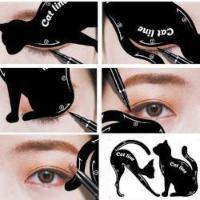 2 pcs Cat Line Eyebrow Stencil - hair-grow-kit