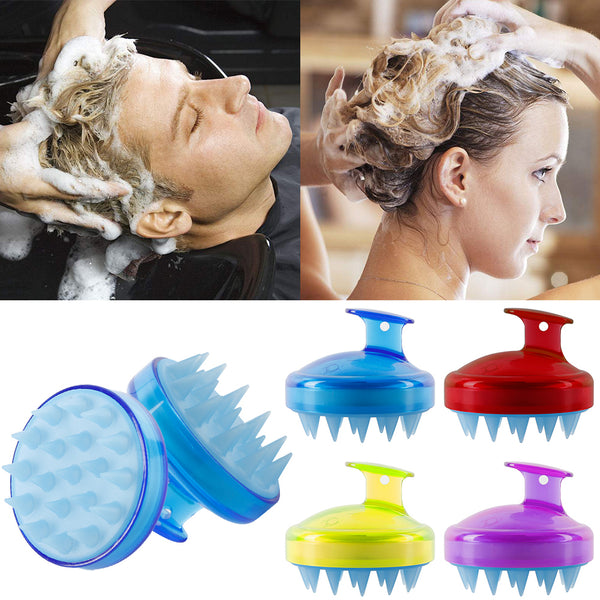 Silicone Head Scalp Massage Brush - hair-grow-kit