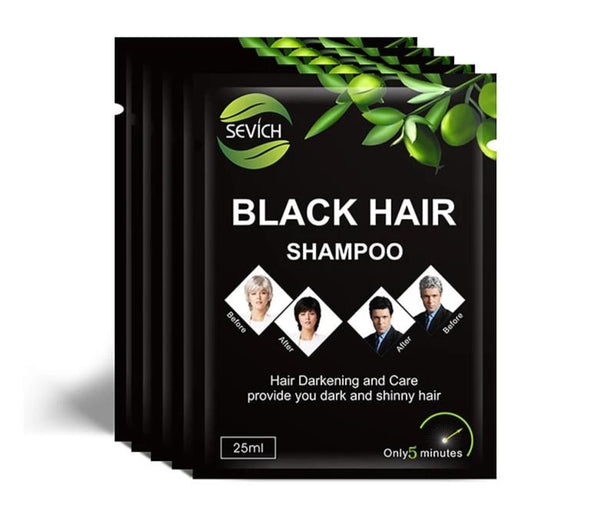 5pcs/lot Black Hair Shampoo