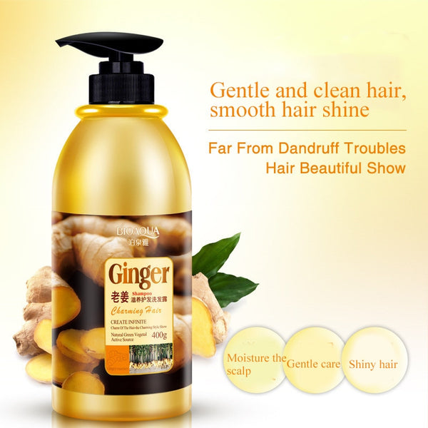 Herbal Ginger Anti Dandruff Shampoo - hair-grow-kit