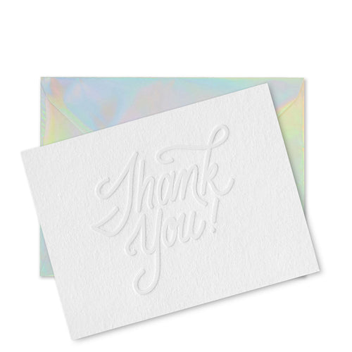 Holographic Thank You Card Set