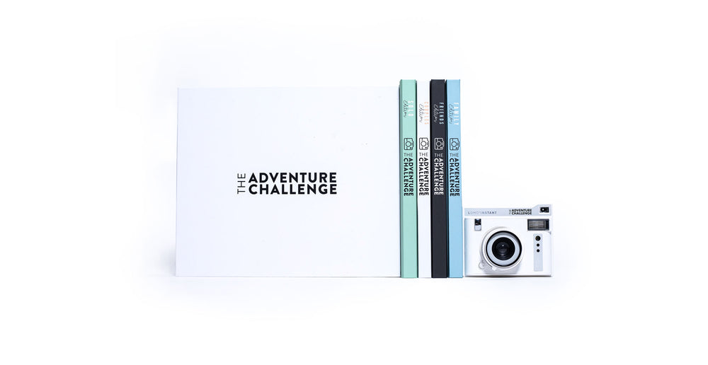 adventure challenge books and camera