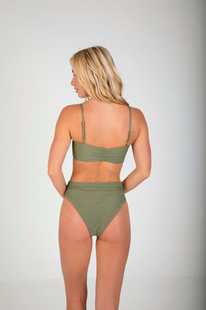 Key West High Waisted Bottom - Palm