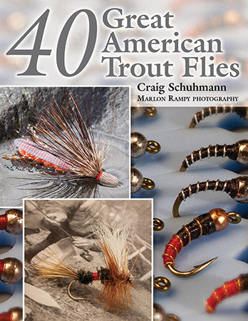 Gently used-40 GREAT AMERICAN TROUT FLIES by Craig Schuhmann