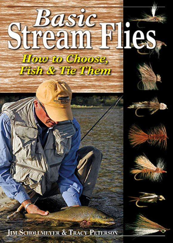 10% off-Gently used-OUT OF PRINT SPIRAL-BASIC STREAM FLIES, HOW TO CHOOSE, FISH & TIE THEM by Jim Schollmeyer & Tracy Peterson