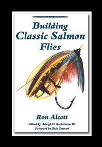10% off-Gently used-OUT OF PRINT SPIRAL-BUILDING CLASSIC SALMON FLIES by Ron Alcott