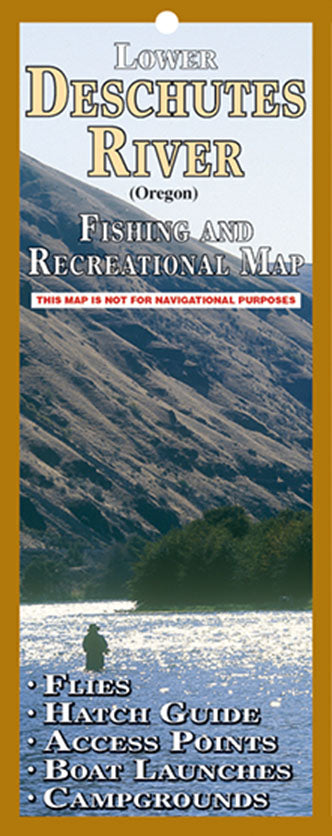 LOWER DESCHUTES RIVER FISHING & RECREATION MAP by John Shewey