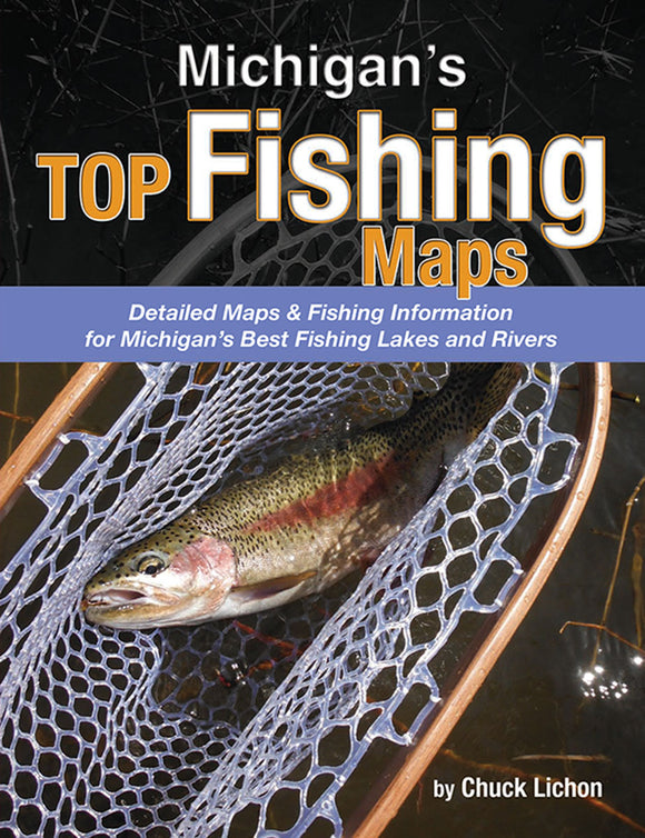 50% off-Gently used-MICHIGAN'S TOP FISHING MAPS by Chuck Lichon