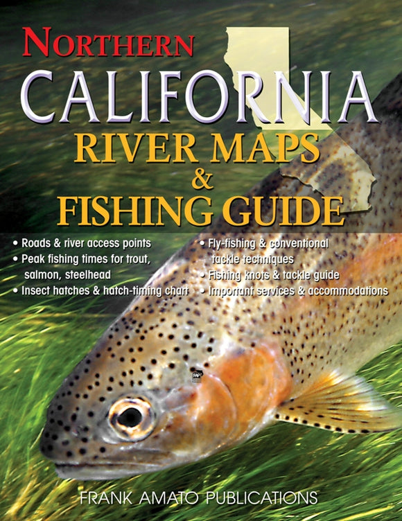 Gently used- NORTHERN CALIFORNIA RIVER MAPS & FISHING GUIDE