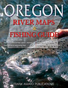 50% off-Gently used-OREGON RIVER MAPS & FISHING GUIDE