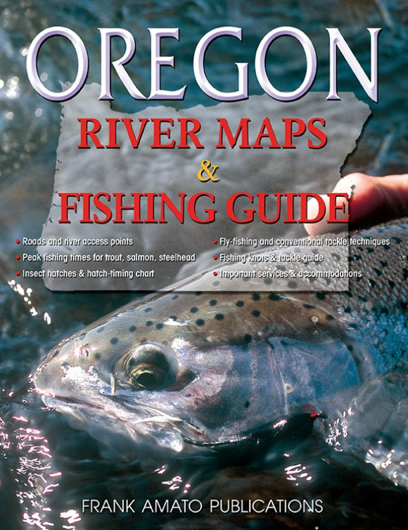 Gently used-OREGON RIVER MAPS & FISHING GUIDE