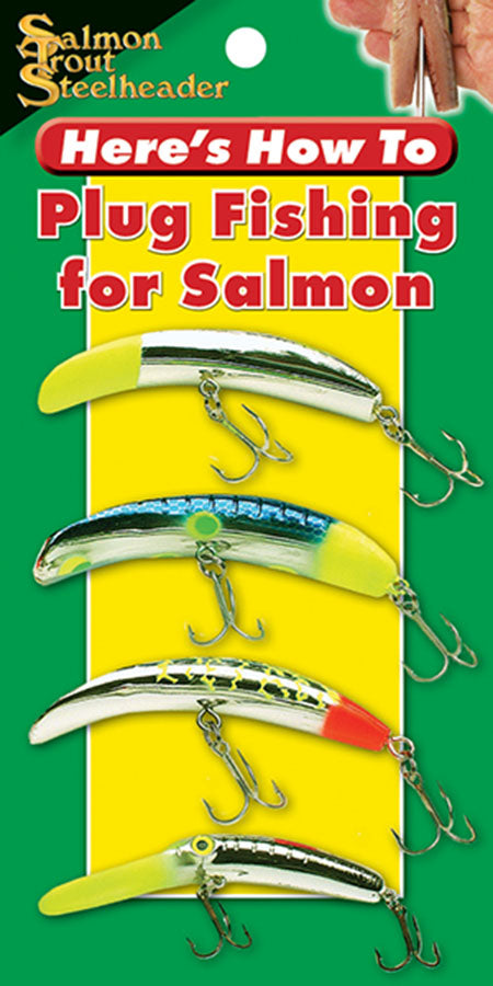 Gently used mini book-HERE'S HOW TO...PLUG-FISHING FOR SALMON by Larry Ellis