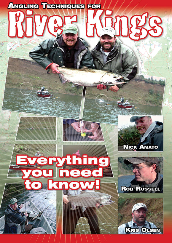 70% off-Gently used DVD-ANGLING TECHNIQUES FOR RIVER KINGS starring Nick Amato, Rob Russell & Kris Olsen