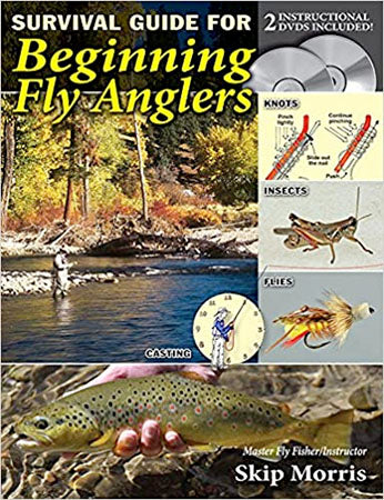 Gently used-SURVIVAL GUIDE TO BEGINNING FLY ANGLERS with 2 DVD's by Skip Morris