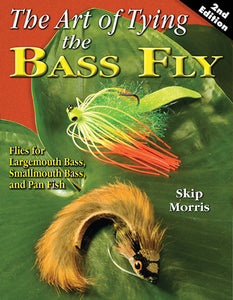 10% off-Gently used-OUT OF PRINT-THE ART OF TYING THE BASS FLY, 2ND EDITION by Skip Morris