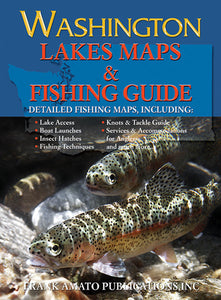50% Off-Gently used- WASHINGTON LAKE MAPS & FISHING GUIDE
