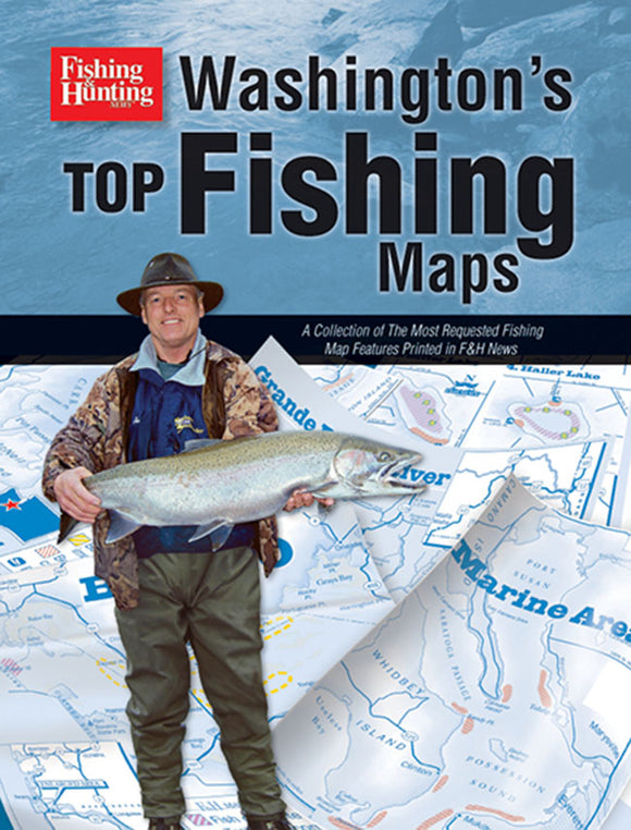 50% off-Gently used-WASHINGTON'S TOP FISHING MAPS