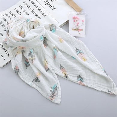 Feather Baby Muslin Baby Wraps
